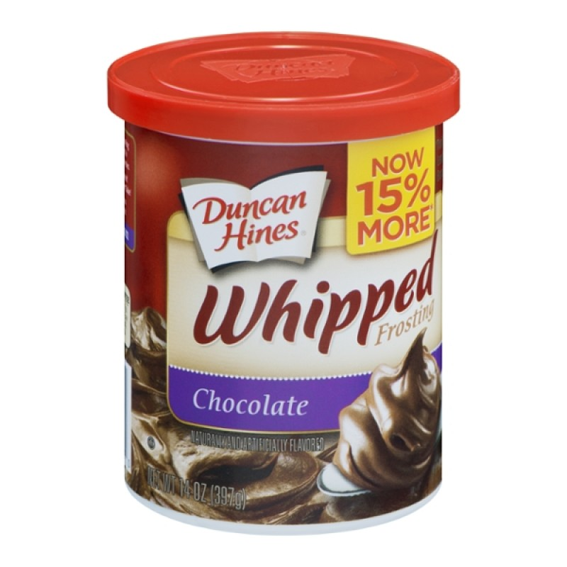 Duncan Hines Whipped Frosting Chocolate 14 Oz