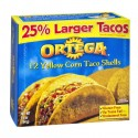 Ortega Yellow Corn Taco Shells - 12 CT 5.8 OZ