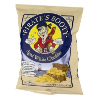 Pirate's Booty Rice And Corn Puffs Aged White Cheddar - 4.0 OZ