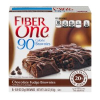 Fiber One 70 Calorie Chocolate Fudge Brownies - 6 CT / 5.34 OZ