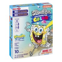 Betty Crocker Fruit Snacks, SpongeBob SquarePants Snacks, 10 Pouches, 0.8 oz Each