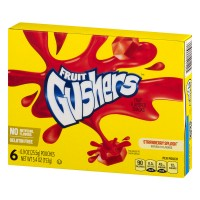 Fruit Gushers™ Strawberry Splash Fruit Flavored Snacks 6-0.9 oz. Pouches