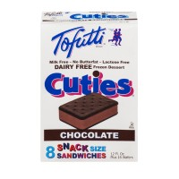 Tofutti Cuties Dairy Free Frozen Snack Size Sandwiches - Chocolate - 8 CT