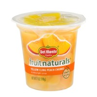 Del Monte Fruit Naturals Yellow Cling Peach Chunks 7 OZ