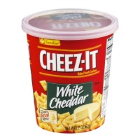 Cheez-It Baked Snack Crackers - White Cheddar - Cup 2.2 OZ