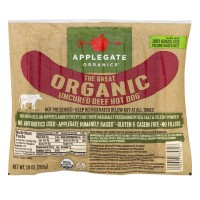 Applegate Organics Uncured Beef Hot Dog - 10.0 OZ