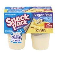 Snack Pack Pudding - Sugar Free - Vanilla - 4 PK