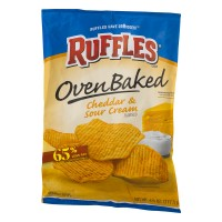 Ruffles Oven Baked Potato Chips Cheddar And Sour Cream - 6.25 OZ