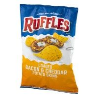 Ruffles Loaded Bacon And Cheddar Potato Skins Potato Chips - 8.5 OZ