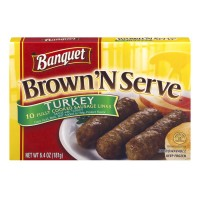 Banquet Brown 'n Serve Sausage Links Turkey - 10 CT / 6.4 OZ