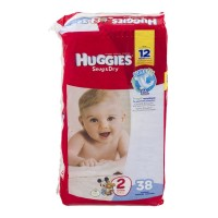 Huggies Diapers Snug & Dry Diapers - Size 2 (12 - 18 lb) - 38 CT