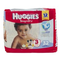 Huggies Snug & Dry Diapers - Size 3 (16 - 28 lb) - 34 CT