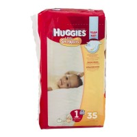 Huggies Diapers Little Snugglers Diapers - Size 1 (Up to 14 lb) - 35 CT