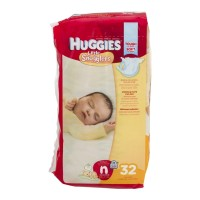 Huggies Little Snugglers Diapers - Size N (Up to 10 lb) - 32 CT