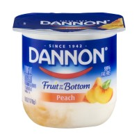 Dannon Fruit on the Bottom Lowfat Yogurt - Peach 6 OZ
