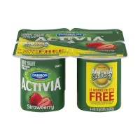 Dannon Activia Lowfat Yogurt - Strawberry - 4 CT