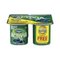 Dannon Activia Lowfat Yogurt -  Blueberry - 4 CT
