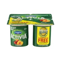 Dannon Activia Lowfat Yogurt - Peach - 4 CT