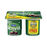 Dannon Activia Lowfat Yogurt - Black Cherry - 4 CT