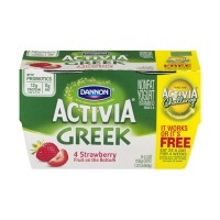 Dannon Activia Greek Nonfat Yogurt Strawberry - 4 CT