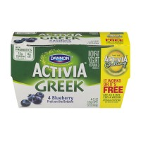 Dannon Activia Greek Nonfat Yogurt Blueberry - 4 CT