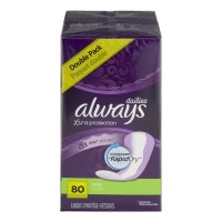 Always Dailies Xtra Protection Liners Long - 80 CT
