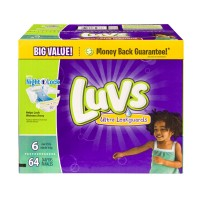 Luvs Ultra Leakguards Diapers Size 6 (Over 35 lbs) - 64 CT