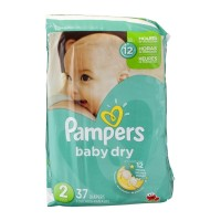 Pampers Baby Dry Size 2 Diapers - 37 CT