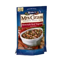 Wyler's Mrs. Grass Hearty Soup Mix - Homestyle Beef Vegetable 7.48 OZ