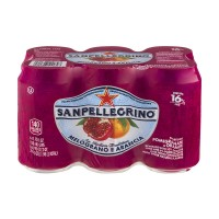 San Pellegrino Pomegranate And Orange Sparkling Juice Beverage - 6 CT / 11.15 FL OZ