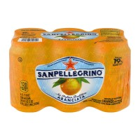 San Pellegrino Sparkling Beverage Orange - 6 CT / 11.15 FL OZ