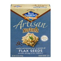 Blue Diamond Artisan Nut-Thins - Flax Seeds - 4.25 OZ