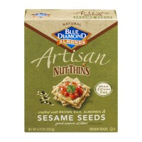 Blue Diamond Almonds Artisan Nut-Thins Sesame Seeds Cracker Snacks - 4.25 OZ