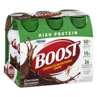 Boost Complete Nutritional Drink High Protein Chocolate Sensation - 6 CT