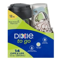Dixie To Go Cups & Lids - 14 CT