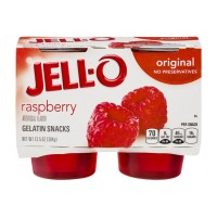 JELL-O Gelatin Snacks - Raspberry - Original 4 CT