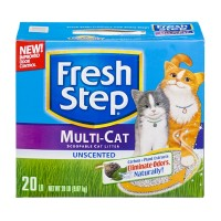 Fresh Step Scoopable Cat Litter Multi-Cat Unscented - 20 LBS