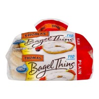 Thomas' Bagel Thins - Plain - 8 CT