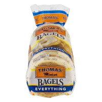 Thomas' Bagels Everything Pre-Sliced - 6 CT / 20.0 OZ