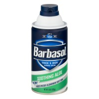 Barbasol Thick And Rich Shaving Cream Soothing Aloe - 10.0 OZ