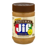 Jif Natural Peanut Butter Crunchy - 16.0 OZ