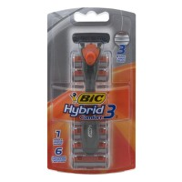 BIC Hybrid 3 Comfort - 1 Handle And 6 Cartridges