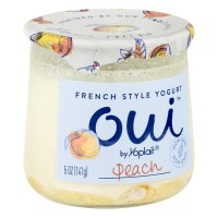 Yoplait Oui French Style Yogurt Peach - 5.0 OZ