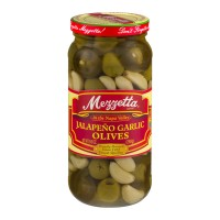 Mezzetta (Green) Jalapeno Garlic Olives - 9.5 OZ