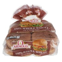 Brownberry Whole Grains 100% Whole Wheat Burger Rolls - 8 CT / 1 LB
