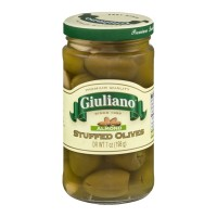 Giuliano (Green) Stuffed Olives - Almond - 7 OZ