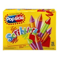 Popsicle Ice Pops - Scribblers -Cherry, Orange, Raspberry, Watermelon - 20 CT / 24 FL OZ