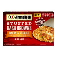 Jimmy Dean Stuffed Hash Browns Bacon And Veggies - 4 CT / 15.0 OZ