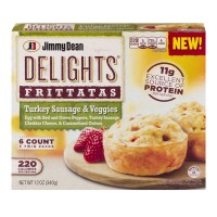 Jimmy Dean Delights Frittatas Turkey Sausage And Veggies - 6 CT / 12.0 OZ