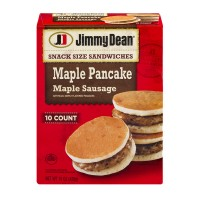 Jimmy Dean Snack Size Sandwiches Maple Pancake Maple Sausage - 10 CT / 15.0 OZ